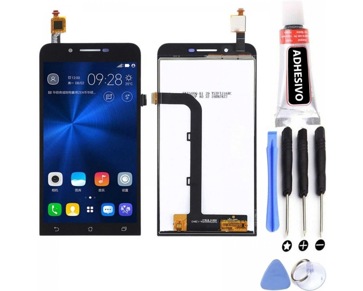 Display For Asus Zenfone GO, Color Black ARREGLATELO - 10