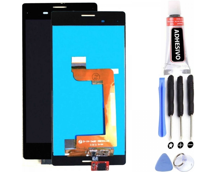 Pełny ekran dla Sony Xperia M4 AQUA E2303 E2306 E2353 Czarny Czarny
