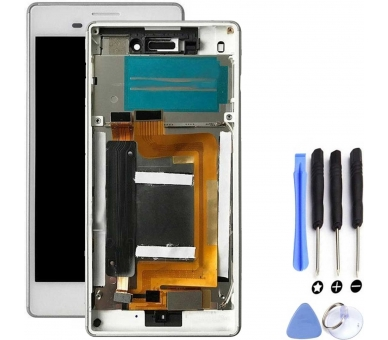 Display For Sony Xperia M4, Color White, With Frame ARREGLATELO - 4