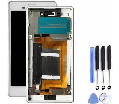Pełny ekran z ramką dla Sony Xperia M4 Aqua E2306 E2353 Biały Biały ARREGLATELO - 4