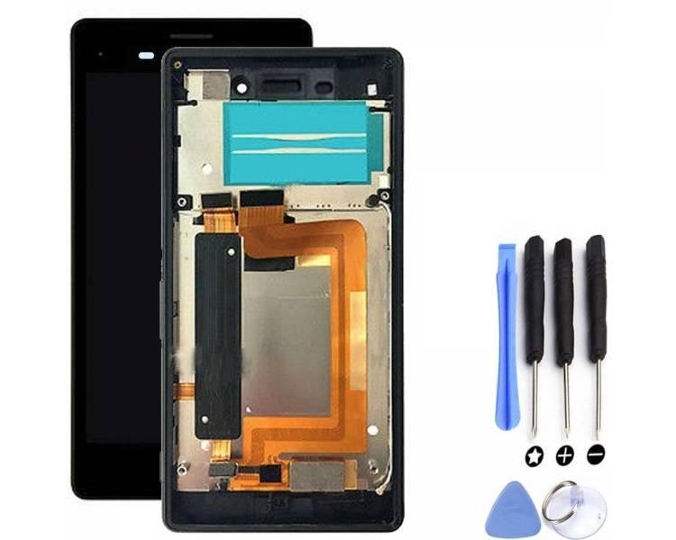 Volledig scherm met frame voor Sony Xperia M4 Aqua E2306 E2353 Zwart Zwart FIX IT - 3