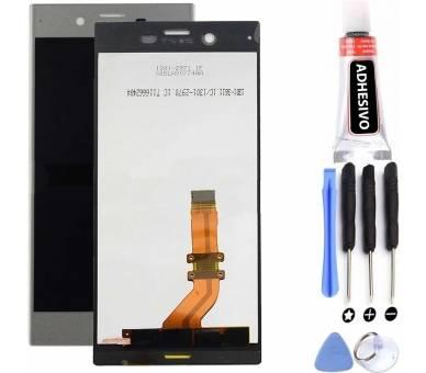 Volledig scherm voor Sony Xperia XZ F8331 F8332 Zilver Wit FIX IT - 3