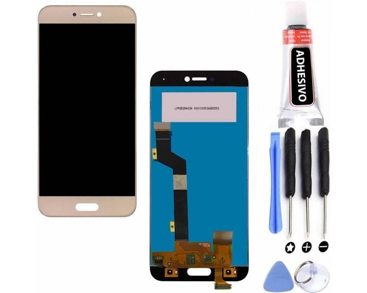Pantalla Completa para Xiaomi Mi5C - Mi 5C - Dorado Dorada Oro ARREGLATELO - 5