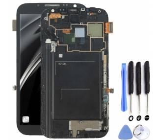 Pantalla Completa con Marco para Samsung Galaxy Note 2 N7100 Negro Negra ARREGLATELO - 5