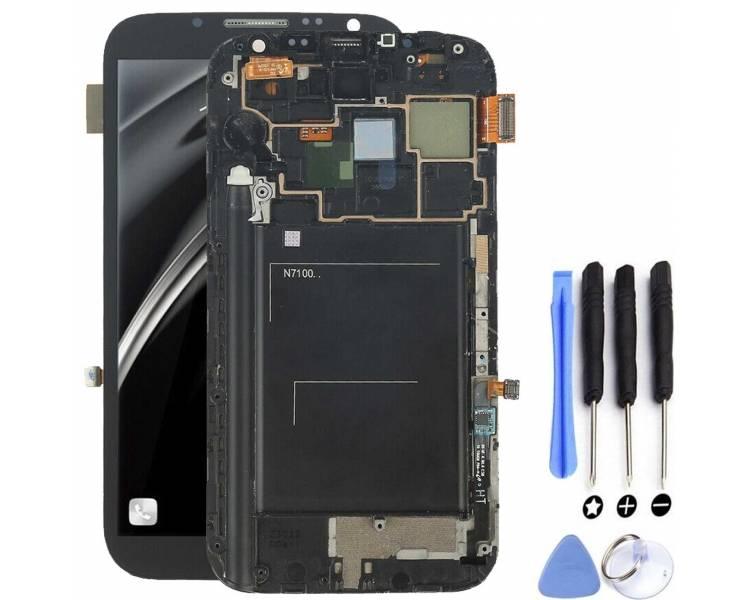 Volledig scherm met frame voor Samsung Galaxy Note 2 N7100 Zwart Zwart FIX IT - 5