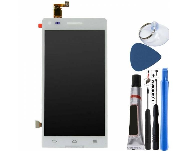 Oryginalny pełny ekran do Huawei Ascend G6, Orange Gova White White
