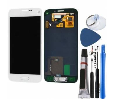Origineel volledig scherm voor Samsung Galaxy S5 Mini Wit Wit G800F Samsung - 1