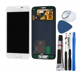Oryginalny pełny ekran do Samsung Galaxy S5 Mini White White G800F