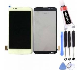Pełny ekran dla LG K8 K350N K350E K350DS K350 biały biały
