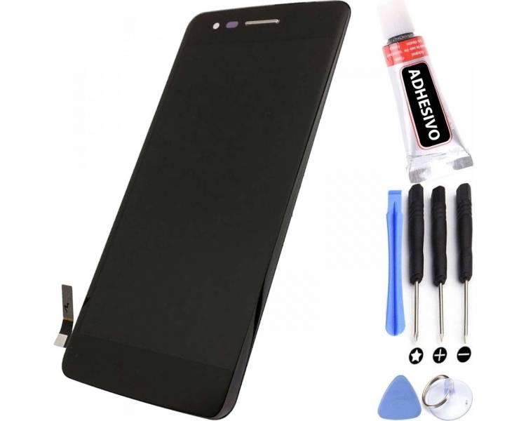 Pełny ekran dla LG K8 K350N K350E K350DS K350 Czarny Czarny ARREGLATELO - 1