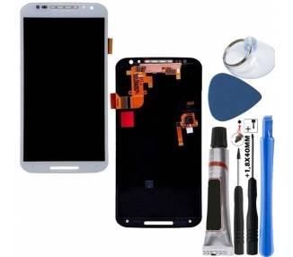 Pełny ekran dla Motorola Moto X2 XT1092 XT1095 XT1096 Biały Biały