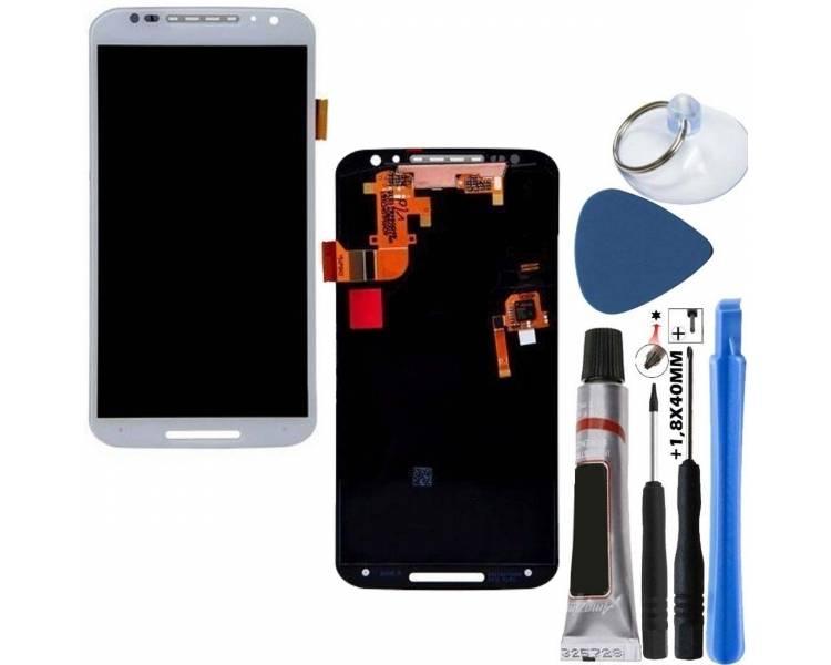 Volledig scherm voor Motorola Moto X2 XT1092 XT1095 XT1096 Wit Wit FIX IT - 1