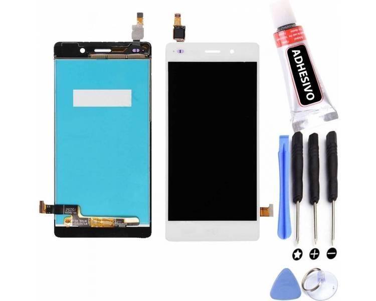Display For Huawei Ascend P8 Lite, Color White ARREGLATELO - 1