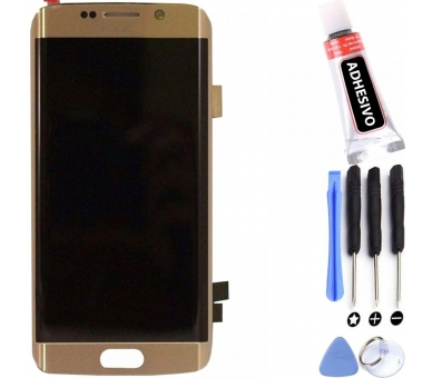 Display For Samsung Galaxy S6 Edge Plus, Color Gold, Original Amoled ARREGLATELO - 1