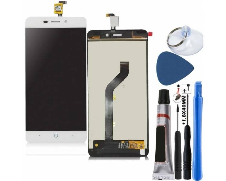 Pełny ekran dla ZTE Blade A452 X3 D2 T620 Q519T White White ARREGLATELO - 1