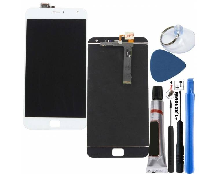 Display For Meizu MX4, Color White ARREGLATELO - 1