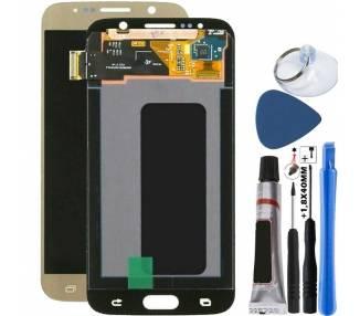 Display For Samsung Galaxy S6, Color Gold, Original Amoled