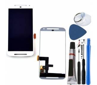 Pełny ekran dla Motorola Moto G2 XT1068 XT1063 Biały Biały