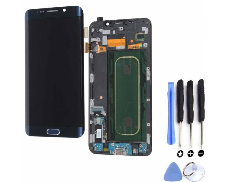 Display For Samsung Galaxy S6 Edge Plus, Color Blue, Original Amoled Samsung - 1