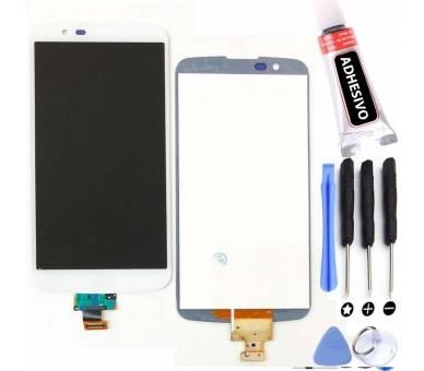 Pełny ekran dla LG K10 K410 K420 K430 Biały Biały ARREGLATELO - 1