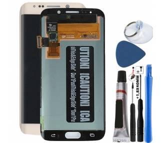 Display For Samsung Galaxy S6 Edge, Color Gold, Original Amoled