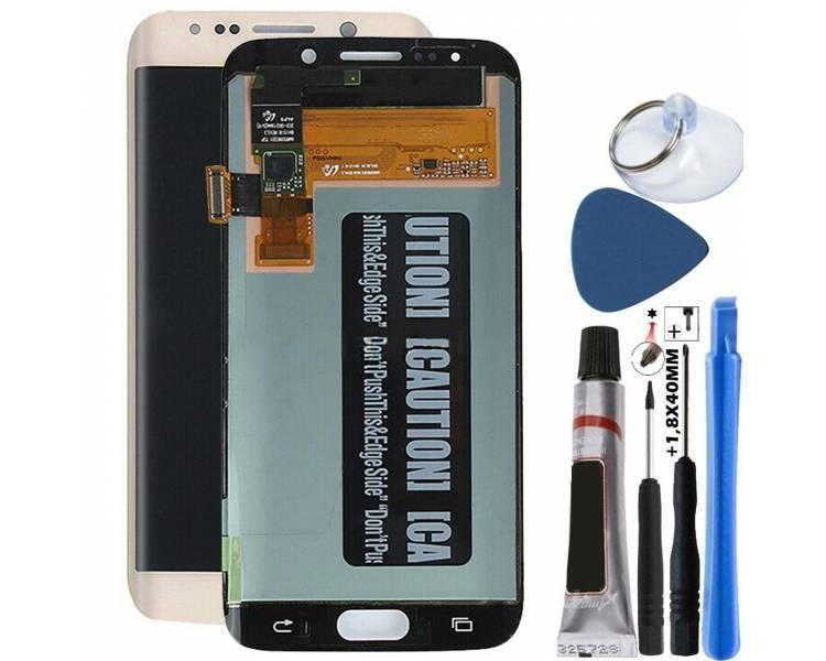Oryginalny pełny ekran do Samsung Galaxy S6 Edge Gold Gold Gold