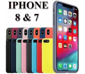 Funda Carcasa de Silicona Suave Líquida para iPhone 7, 8, SE 2 - Diseño Original