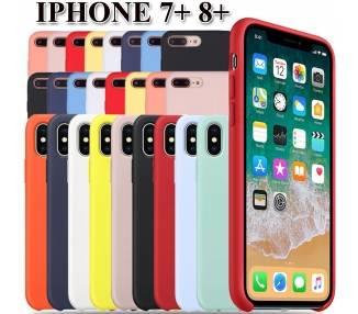 Funda Carcasa de Silicona Suave Líquida para iPhone 7 Plus, 8 Plus - Diseño Original