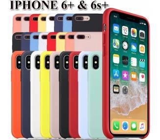 Funda Carcasa de Silicona Suave Líquida para iPhone 6+, 6S & 6 Plus, 6S+ , Diseño Original