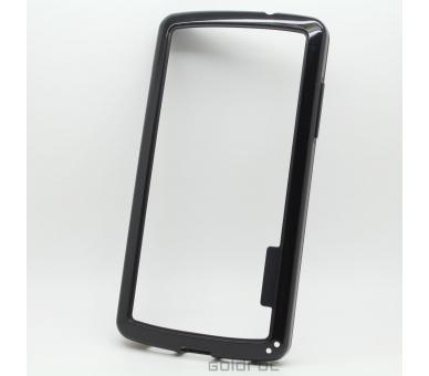 BUMPER Schlanke Hülle für LG Google Nexus 5 TPU + SILICONE schwarz schwarz Farbe ARREGLATELO - 1