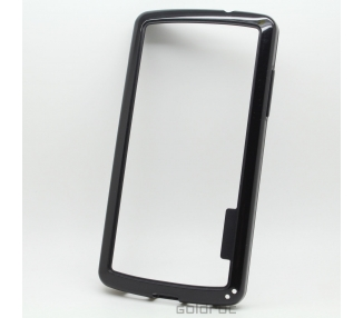 Funda BUMPER Slim para Lg Google Nexus 5 TPU + SILICONA color negro negra ARREGLATELO - 1