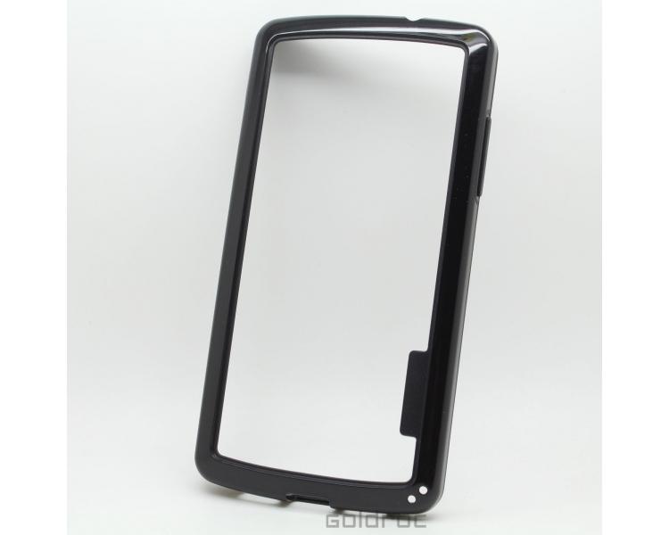 BUMPER Slim etui do LG Google Nexus 5 TPU + SILICONE czarny kolor czarny ARREGLATELO - 1