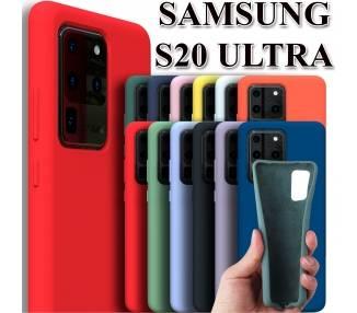 Funda Carcasa de Silicona Suave Líquida para Samsung Galaxy S20 Ultra - Diseño Original ARREGLATELO - 1