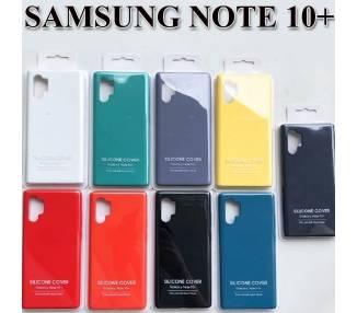 Funda Carcasa de Silicona Suave Líquida para Samsung Galaxy Note 10 Plus - Diseño Original