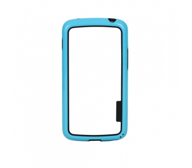 BUMPER Slim Case für LG Google Nexus 4 TPU + SILICONE Blaue Farbe ARREGLATELO - 1