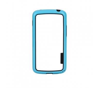 Funda BUMPER Slim para Lg Google Nexus 4 TPU + SILICONA color Azul  - 1