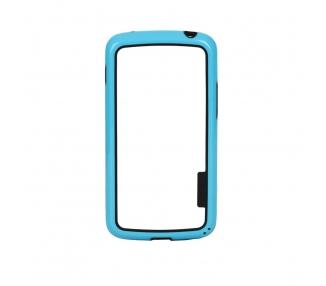 Funda BUMPER Slim para Lg Google Nexus 4 TPU + SILICONA color azul ARREGLATELO - 1