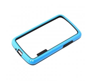 BUMPER Slim Case für LG Google Nexus 4 TPU + SILICONE Blaue Farbe ARREGLATELO - 2