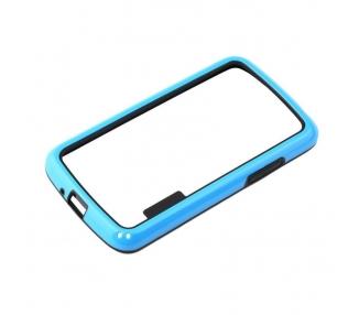 Funda BUMPER Slim para Lg Google Nexus 4 TPU + SILICONA color Azul ARREGLATELO - 2