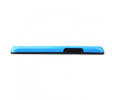 BUMPER Slim Case für LG Google Nexus 4 TPU + SILICONE Blaue Farbe ARREGLATELO - 3