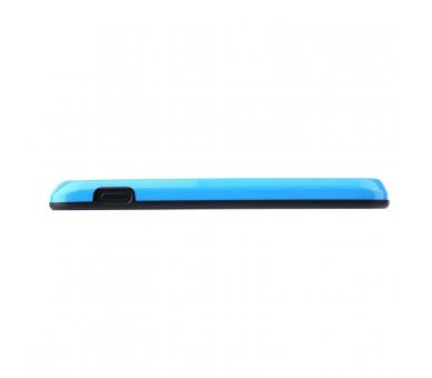 BUMPER Slim Case für LG Google Nexus 4 TPU + SILICONE Blaue Farbe ARREGLATELO - 4