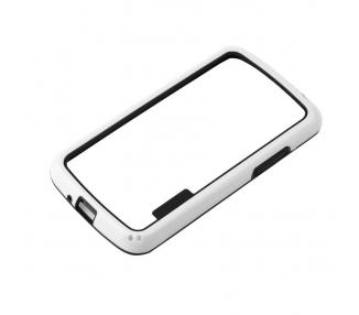 Funda BUMPER Slim para Lg Google Nexus 4 TPU + SILICONA color blanco blanca ARREGLATELO - 1