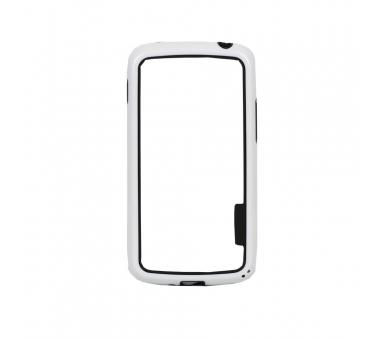 BUMPER Slank hoesje voor Lg Google Nexus 4 TPU + SILICONE wit wit ARREGLATELO - 2