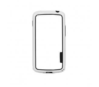Funda BUMPER Slim para Lg Google Nexus 4 TPU + SILICONA color blanco blanca ARREGLATELO - 2