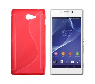 Sony Xperia M2 Case - TPU Case - Color Red
