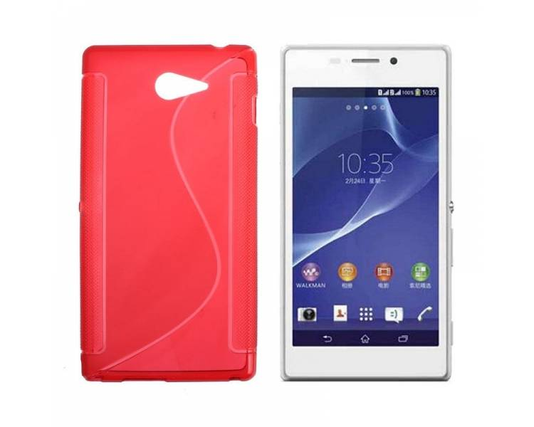 Sony Xperia M2 Case - TPU Case - Color Red - 1