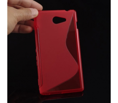 Sony Xperia M2 Case - TPU Case - Color Red - 2