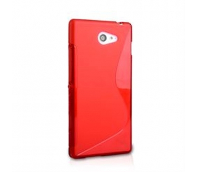 Sony Xperia M2 Case - TPU Case - Color Red  - 3