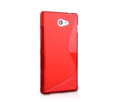 Sony Xperia M2 Case - TPU Case - Color Red ARREGLATELO - 3