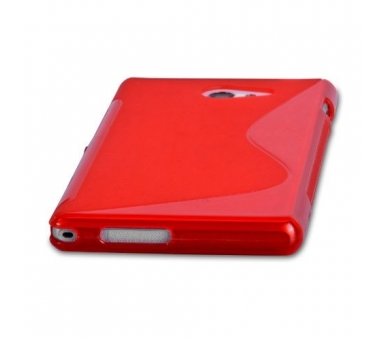 Sony Xperia M2 Case - TPU Case - Color Red - 4